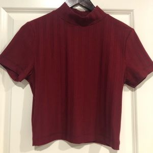 Urban Outfitters cropped maroon shirt